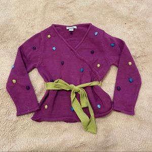 FINAL PRICE Hartstrings purple sweater with tie